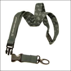 精品双层涤纶3D丝印logo证件套挂绳工作证吊带