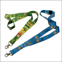 Lovely series sublimation logo neck lanyards