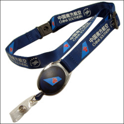 The company Printing private custom logo nylon neck lanyard with reels lala buckle