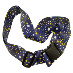 Polyester sublimation star logo strap for gift set