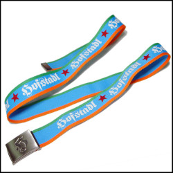 The high quality three colors  belt with printing custom logo