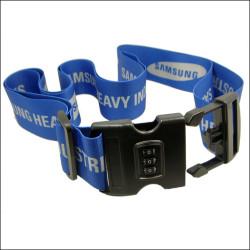 Samsung promotional gift subliamtion logo luggage belt with lock buckle