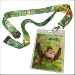 经典迪士尼系列人物2D证件卡套热转印织带挂绳