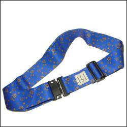 蓝色热转印细花花纹涤纶箱包带行李打包带十字捆绑带