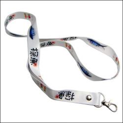 探鱼连锁店宣传织带店员证件挂绳热转印胸牌挂带