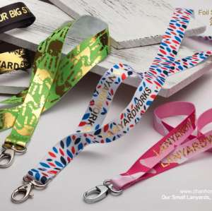 New products Foil Stamped Logo custom design logo lanyards