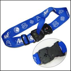 旅行社宣传旅行箱包带可称重带密码插扣安全耐用的行李箱绑带打包带