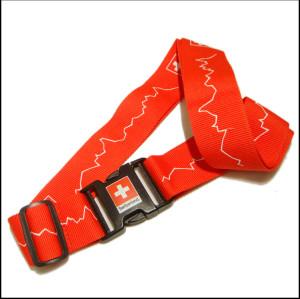 红色瑞士旅行箱包带行李箱识别带宣传赠品打包带