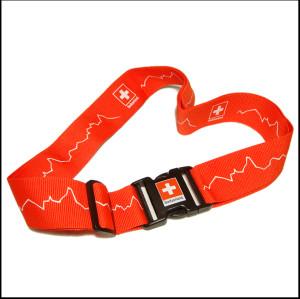 赤色スイス連邦旅歩きするスーツケースベルト宣伝贈り物の荷造りベルト