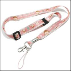 樱桃小丸子系列图案热转印涤纶可调节织带挂绳证件带工作证挂带