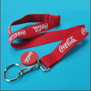 可口可乐丝印织带员工工作证挂绳工宣传赠品织带