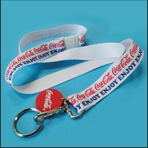 Coca-cola热转印安全挂绳员工证件套挂带宣传赠品织带