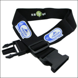 Factory direct sale with custom logo black travel belt