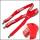 Custom logo fashion red color elastic trousers braces
