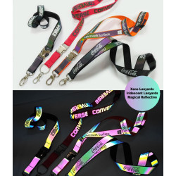 New fashion products magical reflective neck lanyards
