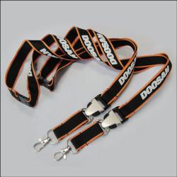优质泡棉logo员工厂牌吊带优质涤纶挂带证件套挂绳