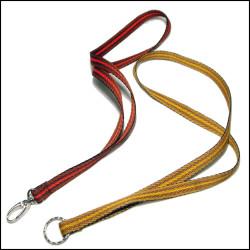 时尚编织间色涤纶织带证件挂带厂牌吊绳手机锁匙挂绳