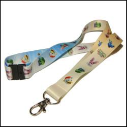儿童卡通动物图案双面热转印学生证件套挂绳校牌吊带