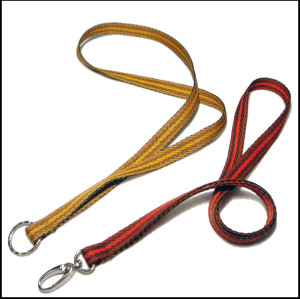 cotton woven binary colour  polyester lanyards with custom accessories