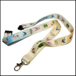 Lanyard sublimation custom logo safety buckle neck strap