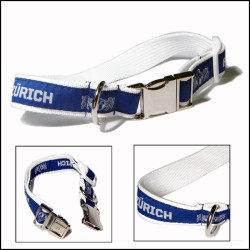 metal buckle woven satin polyester dog collar