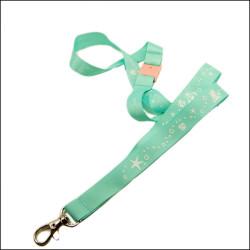 艳丽的柔软超薄的加深平纹织唛证件带学生校牌挂绳