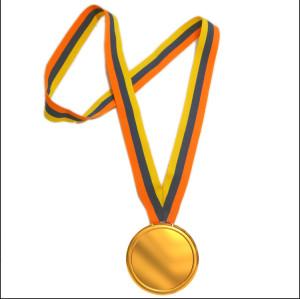 经典条纹奖牌带运动会马拉松各项比赛奖牌奖带