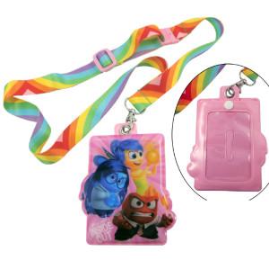 彩虹色热转印儿童胸牌挂绳学生校牌挂带