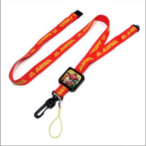 经典奥特曼系列环保涤纶织带挂绳安全的儿童证件套挂带