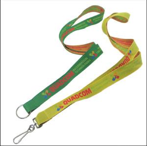 色彩艳丽的环保提花证件套挂绳耐用的工作证胸牌织带