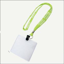 荧光绿企业宣传空心pk窄带工作证挂绳员工厂牌挂带