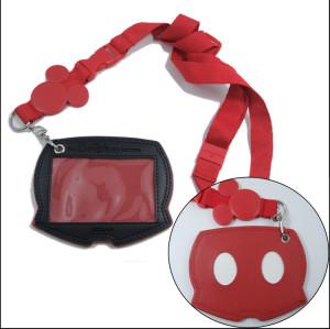 迪士尼米奇头提花logo证件卡套挂绳活动宣传纪念品挂带