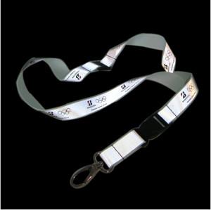 奥运会赞助商宣传礼品挂绳活动音乐会宣传反光带有特色的丝印工作证胸卡挂绳