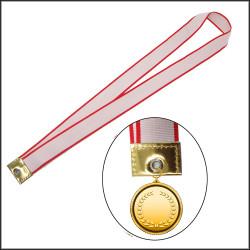 红白条纹奖牌带运动会马拉松各项比赛奖牌奖带