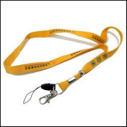 循环可回收涤纶丝印logo证件套挂绳环保材料工作证织带