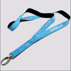 双面不同色锁边丝印图案厂牌带证件套带学生证挂绳