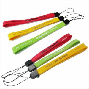 各色印花10cm微弹PK带手机绳钥匙手腕挂绳