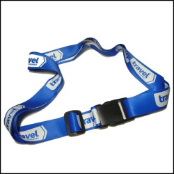 Polyester sublimation star logo strap for gift set