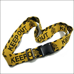 colorful design polyester luggage belt with woven logo