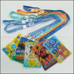 Disney's series of children's certificate holder safe and environmentally friendly card holder lanyards