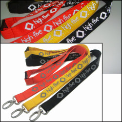 Fashionable and beautiful reflective ink printing  rope night identification sling certificate hanging