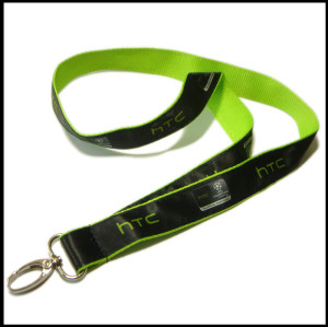 Professional customized ink printing label polyester tape publicity tape giveaway with staff certificate neck lanyard