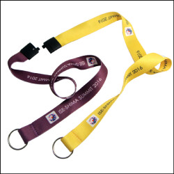 Heat transfer double head exhibition certificate sling work neck lanyards
