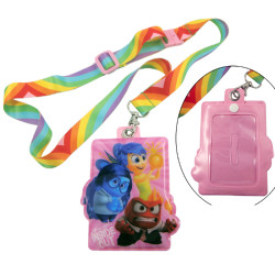 Rainbow color heat transfer name card badge for children neck lanyards