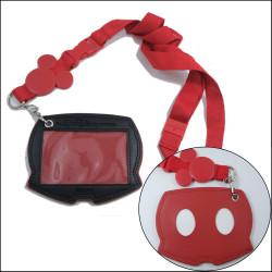 Disney mickey head jacquard logo certificate card cover promotional souvenir hanging straps