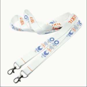 2020 Corporate publicity line the heat transfer printing certificate to take the hanging rope lanyards