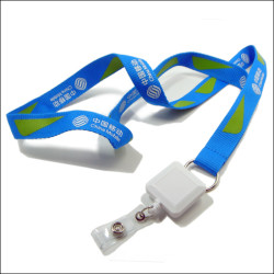 China mobile enterprise publicity gifts hanging with employee work card package hanging rope lanyard