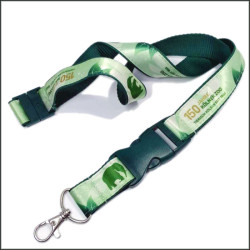 Custom printing ribbon certificate work permit activity interlock and tie neck lanyards