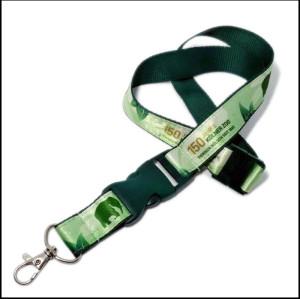 Custom printing ribbon certificate work permit activity interlock and tie neck lanyards