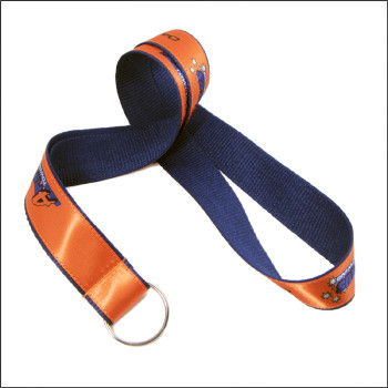 Key ring orange soft and color-fast printing label working card neck lanyard